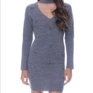 Endless Rose embellished sweater dress size small